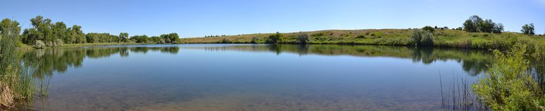 Gravel Ponds. Back ponds of local reservoir stock photo