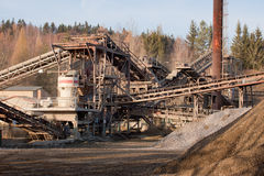 Gravel production Stock Photography
