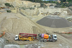 Gravel Quarry Stock Photography