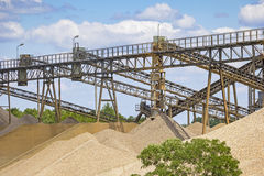 Gravel Quarry Royalty Free Stock Images