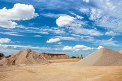 Gravel quarry site Stock Photography