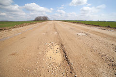 Gravel road. Stock Photos