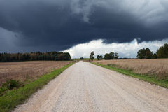 Gravel road. Royalty Free Stock Photo