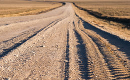 Gravel road. Background (small depth of sharpness Royalty Free Stock Photography