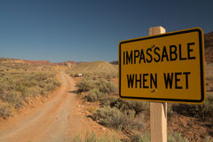 Gravel Road. Dirt Road in Utah (impassable when wet), USA royalty free stock photography