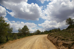 Gravel road. A gravel road in the countryside, Greece Stock Photos