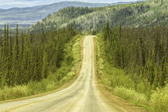 Gravel road in Alaska Royalty Free Stock Photo