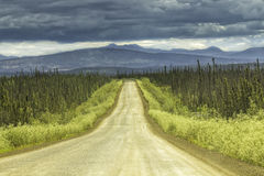 Gravel road in Alaska Stock Image