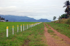 Gravel road along airfield fence Stock Image