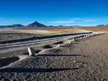Gravel road on Altiplano Royalty Free Stock Image