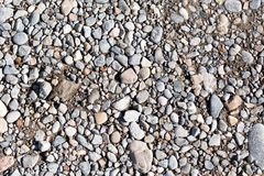 Gravel on the road as a background. texture.  Royalty Free Stock Photos