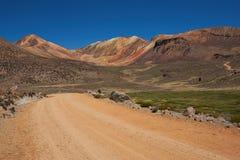 Gravel Road in the Atacama Stock Images