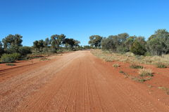 Gravel road in the australian outback stock photography