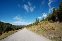 Gravel road in the back country Royalty Free Stock Photos
