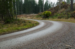 Gravel road bend Stock Photos