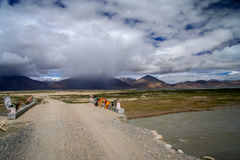 Gravel road in Central Tibet Stock Images