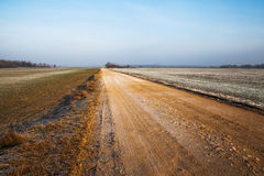 Gravel road. Royalty Free Stock Photography