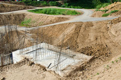 Gravel road in the construction site. Stock Image