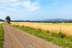 Gravel road in countryside stock photography