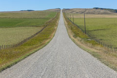 Gravel Road in the Countryside Stock Image