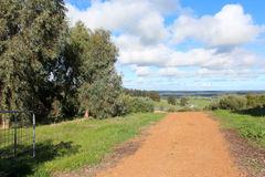 Gravel road in Darling Ranges Western Australia near Crooked Brook. Royalty Free Stock Photo