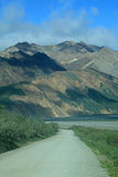 Gravel road at Denali National Park Royalty Free Stock Images