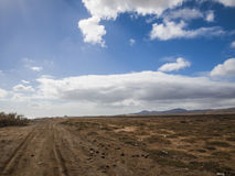 Gravel Road - Fuerteventura, Canaries, Spain Royalty Free Stock Photo