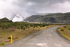 Gravel Road through Geothermal Area in Iceland Royalty Free Stock Photos