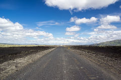 Gravel road in Iceland Royalty Free Stock Images
