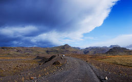 Gravel road in Iceland. Royalty Free Stock Photos