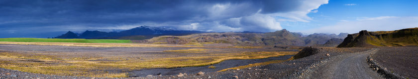 Gravel road in Iceland. Royalty Free Stock Photo