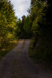 Gravel road in an idyllic landscape Royalty Free Stock Images
