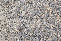 Gravel. On the road, making the road stronger Stock Images