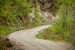 Gravel road in the mountains Royalty Free Stock Photos