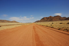 Gravel road Namibia 1 Royalty Free Stock Photo