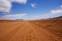 Gravel road Namibia Stock Photos