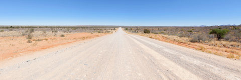 Gravel road in Namibia Royalty Free Stock Photo