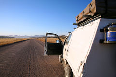 Gravel road in Namibia Stock Images