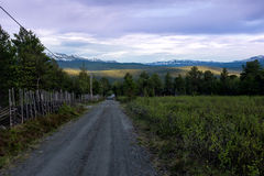 Gravel Road in Norway Royalty Free Stock Photo