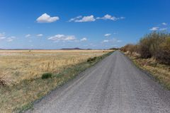 Gravel Road in Open Country stock photography