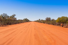 Gravel road in outback Australia. Stock Image