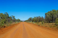 Gravel road in outback Australia. Royalty Free Stock Photo
