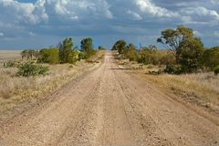 Gravel road perspective Stock Image
