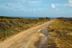 Gravel road perspective Stock Images