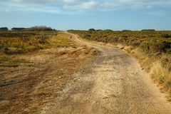 Gravel road perspective Royalty Free Stock Photos