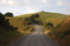 Gravel road at rural area New Zealand. Northland, Dargaville Stock Images