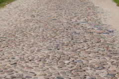 Gravel road, sand and stones of various kinds Stock Photo