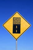 Gravel road sign Royalty Free Stock Photos