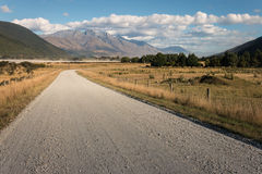 Gravel road in Southern Alps Royalty Free Stock Photos