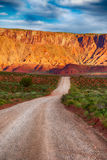 Gravel road in southern Utah desert Stock Photos